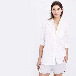 J.Crew Long Cotton Linen Boy Shirt size 4